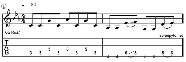 partition guitare eurythmics