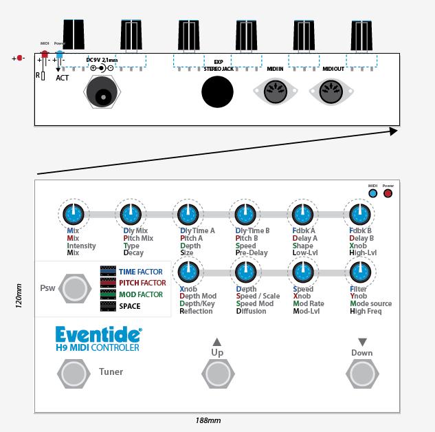 MIDI controller for H9 | Eventide
