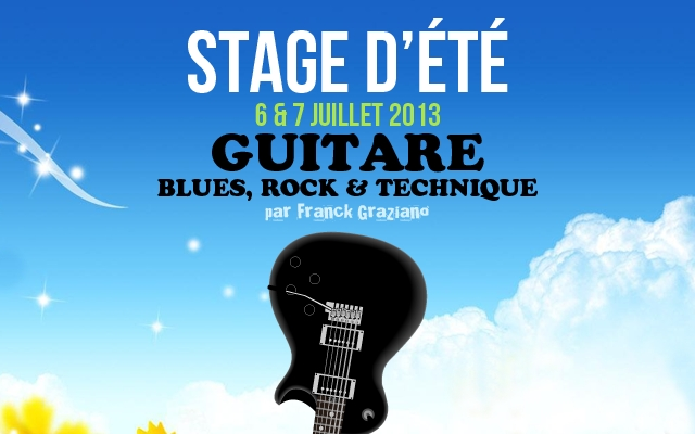 Stages de Guitare Blues & Rock en Isère : 2e édition